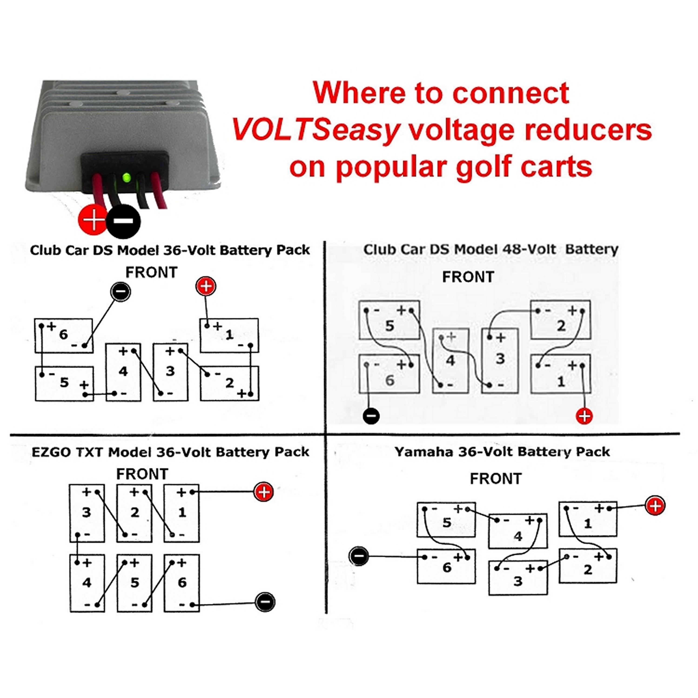 Club Car 48 Volt To 12 Reducer Wiring Diagram 36 Battery Schematics Golf Cart Ezgo