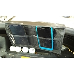 TecScan CELL-CADDY Golf Cart 6 Pocket Cell Phone Caddy