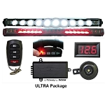 TecScan Remote Control Golf Cart Lights, All-Signals & Voltmeter Kit ULTRA PKG