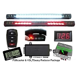 TecScan Remote Control Golf Cart Lights, All-Signals & Voltmeter Kit  FUN-VOLT PKG