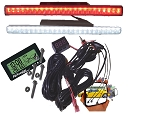 TecScan Standard Golf Cart Lights & Voltmeter Kit FUN-MIR-PKG