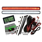 Golf Cart Lights & Voltmeter 12V-16V Kit STD-FUN-VOLT PKG by TecScan